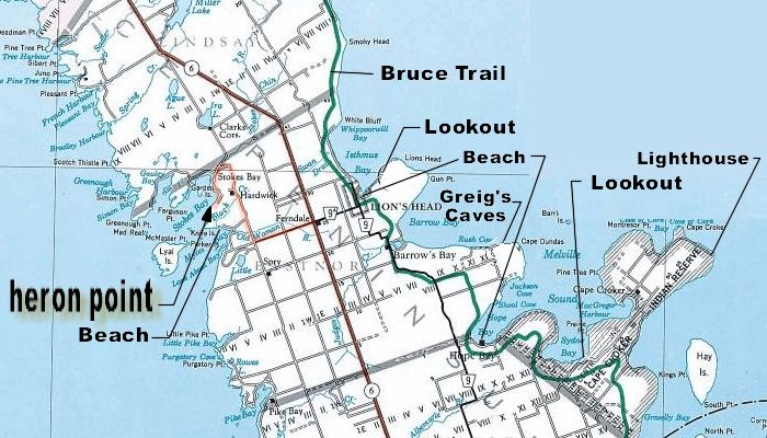 Detailed Bruce County & Area Map